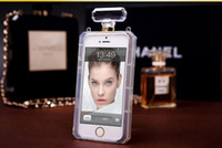 apple perfumes - Luxury Perfume Bottle Case Phone Protective Case Skin For iPhone plus Samsung Galaxy S6 Note With Lanyard Chain With OPP Bag