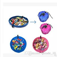 Wholesale 2015 color kid cm play mat toy storage bag Beach storage bag picnic toys storage bag Blanket Rug Boxes Lego Toys Organizer TOPB3677