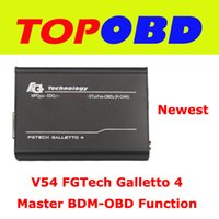 Wholesale 2014 Latest Version V54 FGTech Galletto Master BDM Tricore OBD Function ECU Programmer With Multi Language