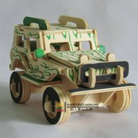 Wholesale Wooden D jigsaw puzzle toys children s Random delivery special needs jeep car puzzles T0629
