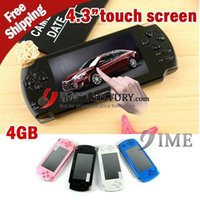 Wholesale 4GB Hot New inch touch screen game player super thin game player support D and flash games