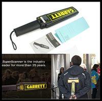 Wholesale Portable Metal Detector Professional Mini Garrett Handheld Metal Detector Super Scanner Superscanner with Vibrator Fast Shipping DHL EMS