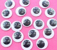 Wholesale 2015 Size mm Black And White Round Design Imitate Animal Eye Dolls Eye For Toys DIY