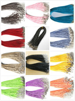 Wholesale Cheap Black Wax Leather Rope mm Snake Necklace Beading Cord String Rope Wire cm Extender Chain with Lobster Clasp DIY jewelry component