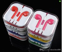 Wholesale Apple s th generation iphone54s headphone earphone wire with wheat car colored spot headphone mixer