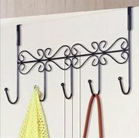 Wholesale Vintage Coat Hook Rack Metal Hanger for Clothes Hook Over Door Coat Towel Organizer Rack Home Bathroom Holder Wall Hooks