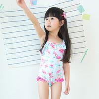 baby bikini pattern - 2016 Spring Summer Cute Girls Princess Beach Swimsuit Baby Kids Swimming Swimwear Children Fashion Crowned Crane pattern Girl Swim Bikini