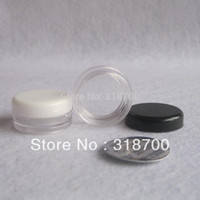 Wholesale g PS cream jar with seal cosmetic container sample jar display case cosmetic packaging