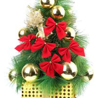 Wholesale 40 Christmas decorations trees Bow pendant ornaments Santa Claus Christmas