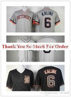 al base - 2015 New Al Kaline Jersey Detroit Tigers throwback Jerseys Cool Base Mens Baseball Home Grey Retro White Embroidery Logos