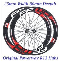 Wholesale 700C mm FFWD F6R Road Bicycle Wheelset K Weave Clincher Carbon Fiber Road Bike Wheels With Powerway R13 Hubs