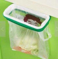 Wholesale 2016 Folding Hanging Trash Rubbish Bag Holder Garbage Rack Cupboard Storage Hanger pieces