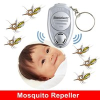 Wholesale 50pcs Efficient Baby Eco Friendly Electronic mini Key Clip Mosquito Repeller Ultrasonic Mosquito Repeller