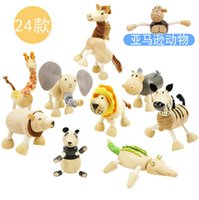 Wholesale ANAMALZ Moveable Maple Wooden Animals Australia Wood Handmade Farm Animals Toy Baby Educational Wooden Toys
