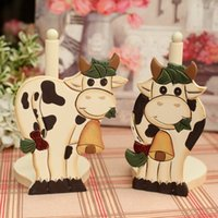 Wholesale Fish smile fashion milk cow wool paper towel holder roll holder toilet paper holder rustic