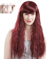 """Cheap Lady Women Heat 24"""" Long Fashion Red Curly Wavy Cosplay Party Full Hair Wig"""
