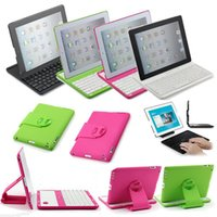 9.7'' 360 keyboard case - 360 Degree Rotate Detachable Wireless Bluetooth Keyboard Case Cover Tablet Stand for iPad nd rd th Tablet PC Cases Bags