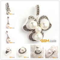 bead gift items - Pearl Jewelry Sets Round Natural Shell Pearl Beads Pendant Ring Classical Jewelry For Party For Gift Hot Item