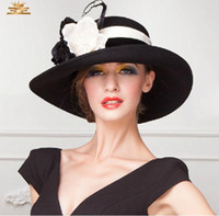 dress hats - New Arrival Winter Ladies Satin Dress Hat Women Kentucky Derby Hat Church Hat Formal Hat For Women Hot Sale Hat Top Hat High Quality