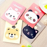 Wholesale 10 Cute Animal A6 mini Notebook Kawaii School Supplies Stationery creative gift