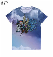 aboriginal women - w20151222 Mikeal Newest Summer fashion d t shirt men women tops print clouds skulls Aboriginal casual t shirt A77