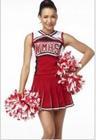 Wholesale Glee Santana Lopez Cheerleader cosplay Costume Sexy WMHS cheerbaby dress Costume sports panelled uniform tempatation party cosplay outfits