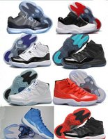 Wholesale XI LOW Bred Retro Basketball Shoes Black Red Sports Boots s Low Concords Basketball Boots Men Athletics Discount Sneakers