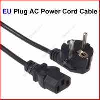 Wholesale Prong EU Plug AC Power Cord Cable m FT For PC Desktop Monitor Computer Power Supply Converter Adapter