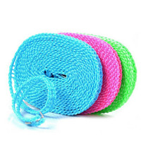 Wholesale Wholesales Outdoor Clothesline Travel Laundry Nylon Washing Clothes Line Rope Anti wind Clothesline M JE0140
