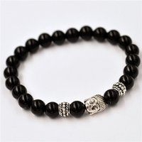 Wholesale 2015 Original handmade jewelry bracelet mm Natural Contracted wind restoring ancient ways The black agate Strange energy hand string beads