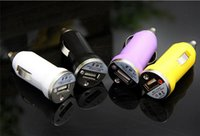 Cheap High Quality Bullet Mini USB Car Charger 5V 1000mah Auto Adapter Colorful Chargers For Iphone 6 5 5S 4 4S Samsung Galaxy S5 S4 S3 Note 3