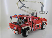 Cheap Technic Exploiture Fire Engine Truck Building Blocks Decool 3323 Sets Model Educational DIY Bricks Toys For Children