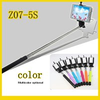 Wholesale Free DHL Z07 Plus z07 Z07 S Extendable Wired Monopod Selfie Stick direct grooveTripod Handheld Monopod Cable Take Pole for IOS Android