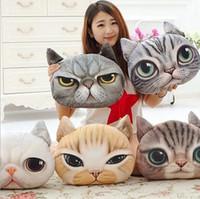Wholesale Creative Cartoon pillow case Cats Dogs Nap Pillow Cushion Cute lovely seat cushion home car decor