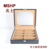 Wholesale Wooden muliple layers of high goss piano lacquer finish eight spectacles case of pairs glasses box