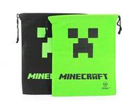 ARTÍCULO CALIENTE bolsa de almacenamiento nuevo Minecraft Minecraft Bolsa Mochila enredadera Draw bolso de la honda de cadena del bolso del regalo