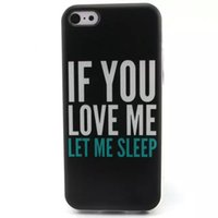apple lettings - 10PCS Quality Stylish if you love me let me sleep Scratch Resistant TPU Phone Case For Samsung S3 S4 S5 S6 S6Edge iPhone S S C