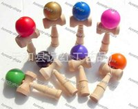 Wholesale New Arrival Big size cm Kendama Ball Japanese Traditional Wood Game Toy Education Gift Children toys colors