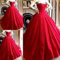 affordable celebrity dresses - 2015 Red Prom Dresses Party Evening Sweetheart Ball Gown Back Zipper Gorgeous Sweep Train Charming Backless Celebrity Affordable Custom Made