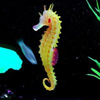 Wholesale Glowing Luminous Artificial Simulation Hippocampus Environmentally Friendly Material Silicone Aquarium Fish Tank Decorations