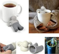 Wholesale New Arrive Teapot cute Mr Tea Infuser Tea Strainer Coffee Tea Sets silicone fred mr tea