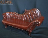 big leather couch - 1 Scale Kumik Unique Couch Model AC Leather Sling Chair Toy For quot Action Figure Doll Accessories D
