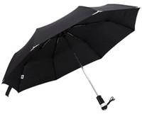automatic closing umbrella - New Automatic Open amp Close LED Umbrella Flashlight Solid Sun And Rain Protection Windproof Wind Resistant Folding Umbrellas