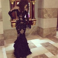 Cheap Reference Images black lace prom dresses Best Girl Sash black prom dress
