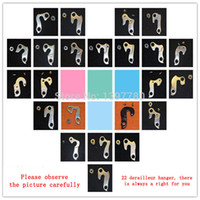 Wholesale Hot sale New Road MTB Mountain Bike Hook Cycling Alloy Rear Derailleur Hook Hanger Parts With screws Cambio Trasero