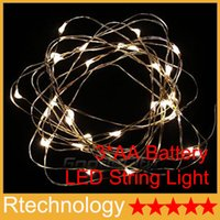 battery operated lights - led strings AA Battery Power Operated LED strip Copper Wire Fairy Lights String M M M led light Christmas Xmas led lights