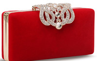 Wholesale high quality fashion hotsale ROYAL noble fashion dinner hand bag with Czech crystal shinning hand purse