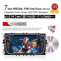 7inch 2 Din Android 4.4.4 Lecteur DVD de voiture pour Ford Focus / Mondeo / Galaxy / S-max / C-max3G Wifi Bluetooth de navigation GPS gratuit 8GB Carte CDVD0017