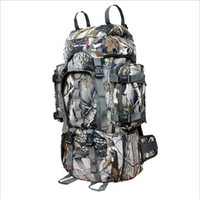 Wholesale Waterproof ripstop bionic leaves camouflage hunting outdoor military backpack shoulder bag large capacity mountaineering bags L