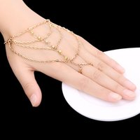 bars crystal mosaic - 2015 fashion Finger Bracelet Hand Chain crystal Mosaic Hand Bracelet Multi Anklet gold chain jewelry for women sexy girls